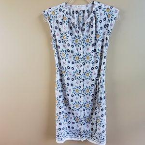 LOFT Sleeveless Button Down Floral Dress, Small